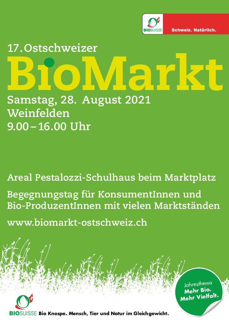 biomarkt-ostschweiz  Samstag, 28. August 2021 Weinfelden 9.00 –16.00 Uhr